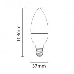 Lampadina a LED C37 E14