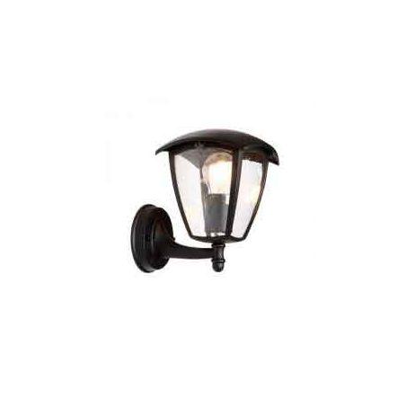 LED da parete 1xE27 nera opaca